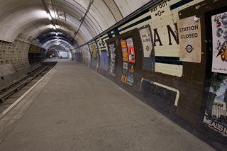 Aldwych Disused Tube Station,