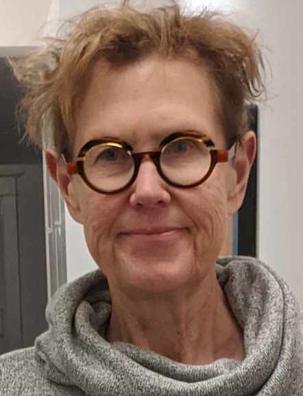 Bespectacled woman
